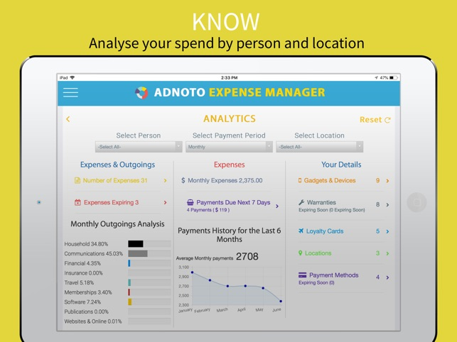 adnoto expense manager on the app store