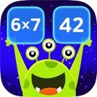 Math Matching Game. Space Math qiuz icon