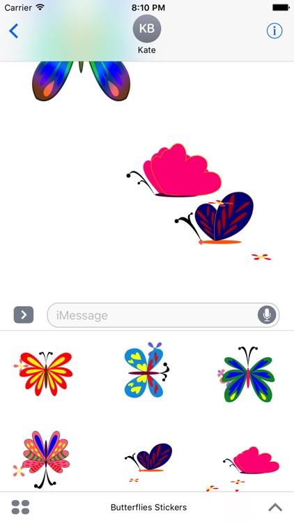 Butterflies Stickers screenshot-3