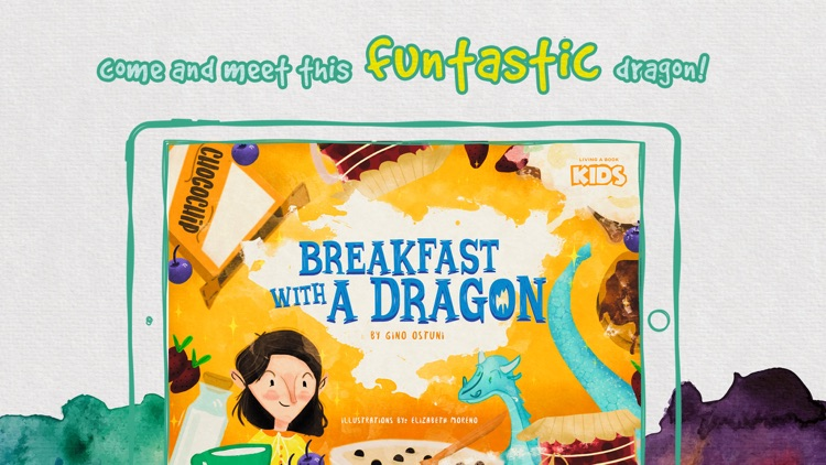 Breakfast with a Dragon Story tale kids Book Game screenshot-0