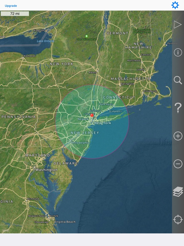 Radius On Map on the App Store on albany new york map, 50 mile walk, queens new york map, flandreau south dakota on map, new york region map, ny hunting zone map, 50 mile ride, 50 state map, ny lakes map, cranberry lake 5.0. map, indian point 50 mile epz map,