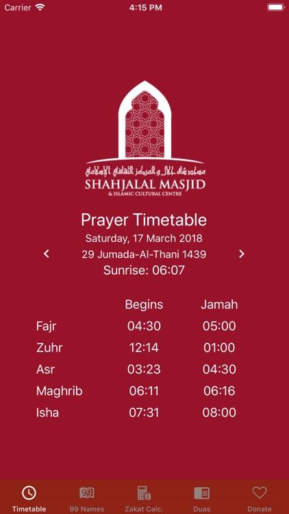 Prayer Time Shahjalal Masjid
