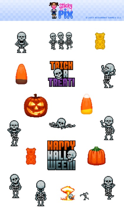 Skellington Animated Stickers