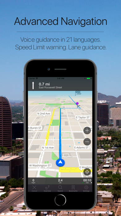 Arizona, USA Navigation Screenshot