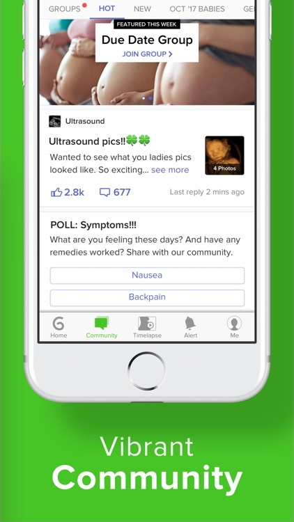 Pregnancy & Baby App - Glow screenshot-3