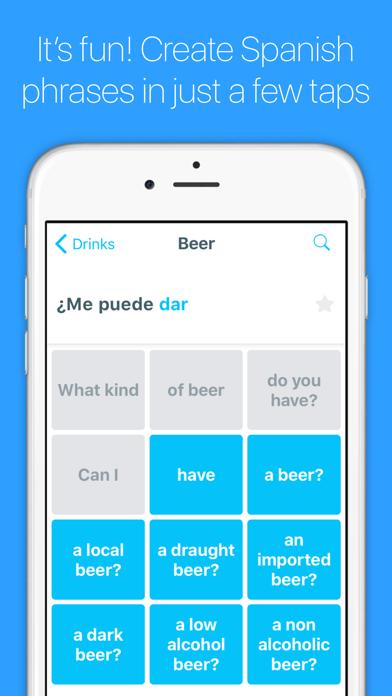 English to Spanish Screenshot on iOS