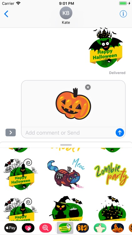 Happy Halloween Dreadful Emoji