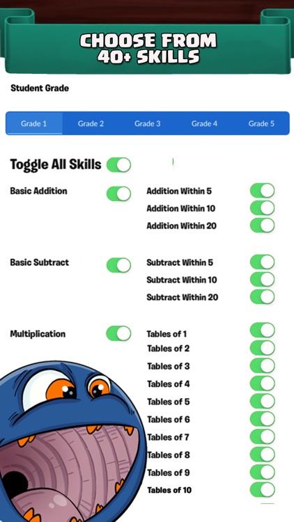 Grade 1 - 5 Monster Math Games screenshot-4