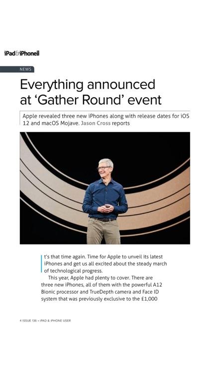 iPad & iPhone User magazine.
