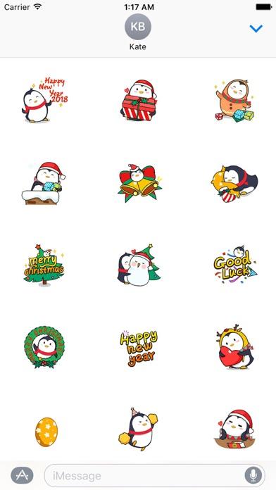 Animated Xmas Penguin Sticker screenshot 1