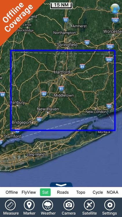 Connecticut lakes - fishing HD GPS chart Navigator screenshot-4