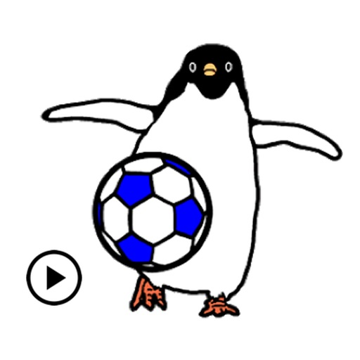 Animated Penguin Play Soccer