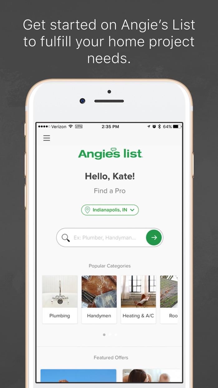 Angie's List Screenshot