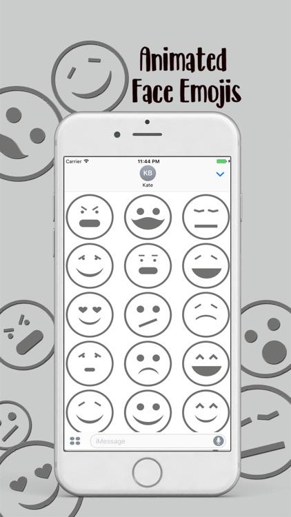 Animated Face Emojis Stickers