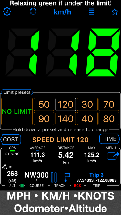 Screenshot for Speedometer 55 Pro. GPS kit. in United States App Store
