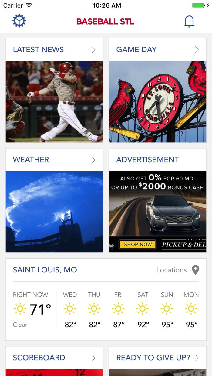 BaseballStL St. Louis Baseball Screenshot