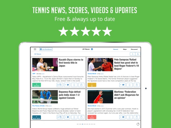 Tennis Companion - News & Live Scores for US Open, Australian Open and Wimbledon screenshot