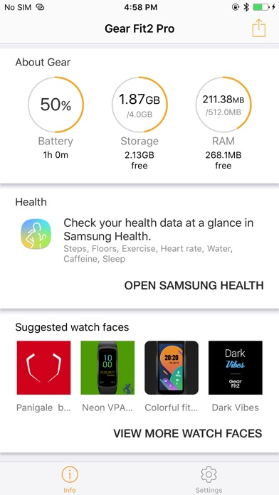 Samsung Gear Fit Screenshot