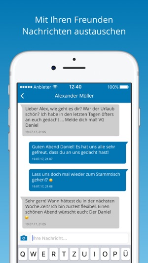 Text uns App