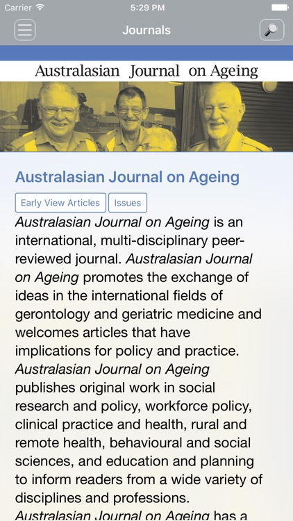 Australasian Journal on Ageing