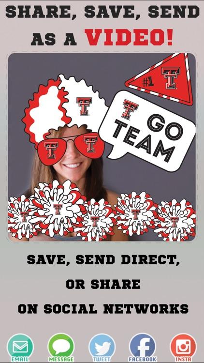 Texas Tech Red Raiders Animated Selfie Stickers screenshot-3