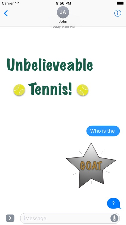 Fun Tennis Animated Stickers