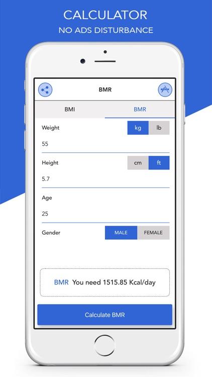 BMR Calculator with BMI Calc screenshot-3