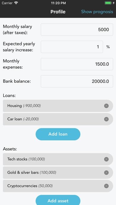 Wealth Predictorスクリーンショット1