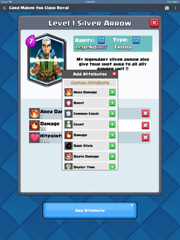Card Maker for Clash Royale screenshot 5