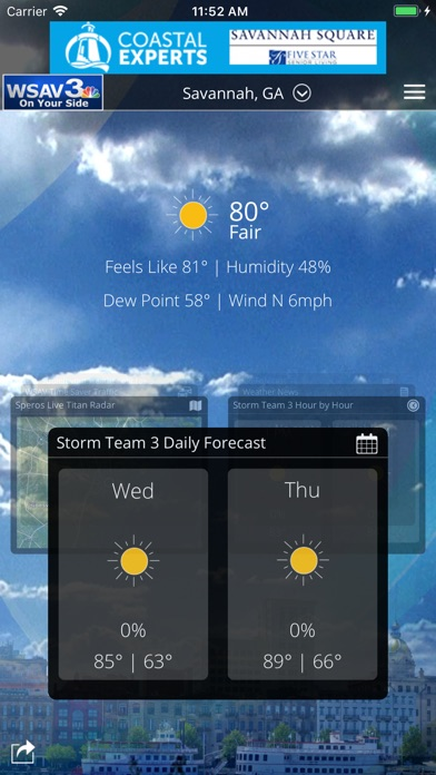 WSAV Weather for Windows