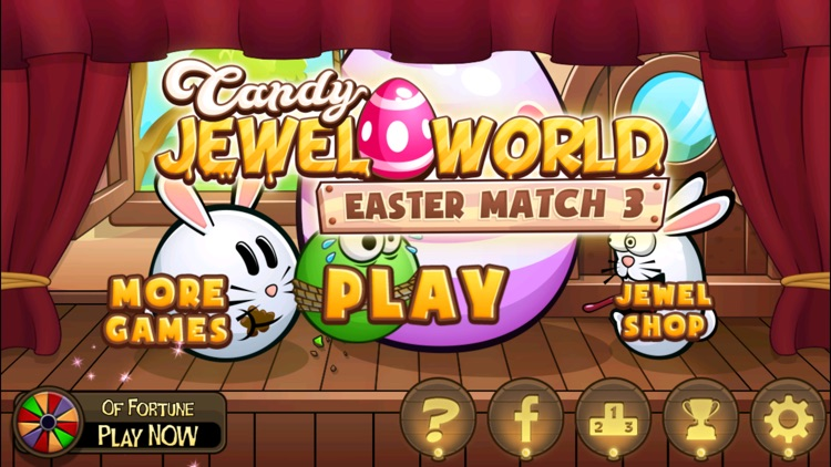 Candy Jewel J-W Easter Match 3 screenshot-3