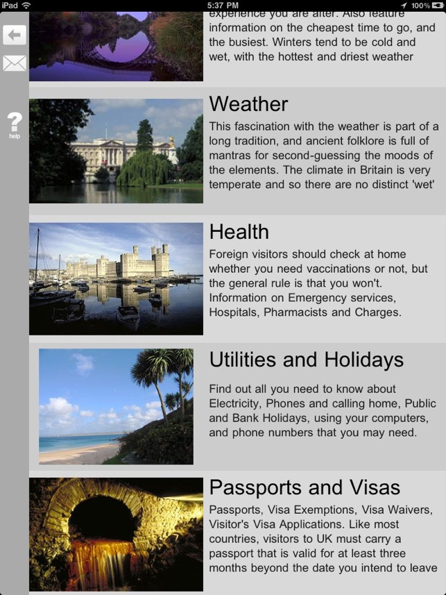 UK Travel Guide Screenshot