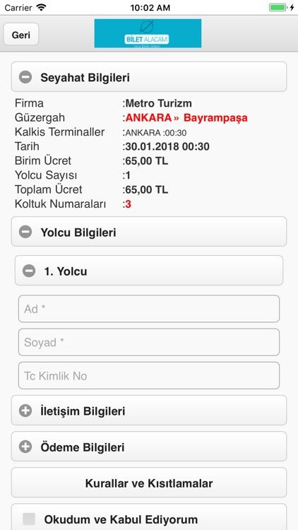 Biletalacam screenshot-3
