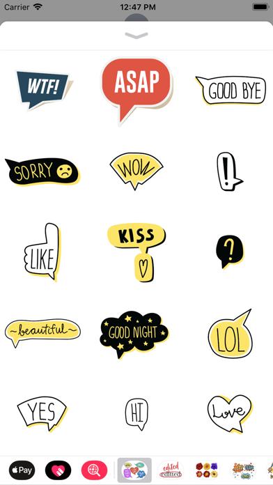 点击获取Speech Bubble Sticker Set