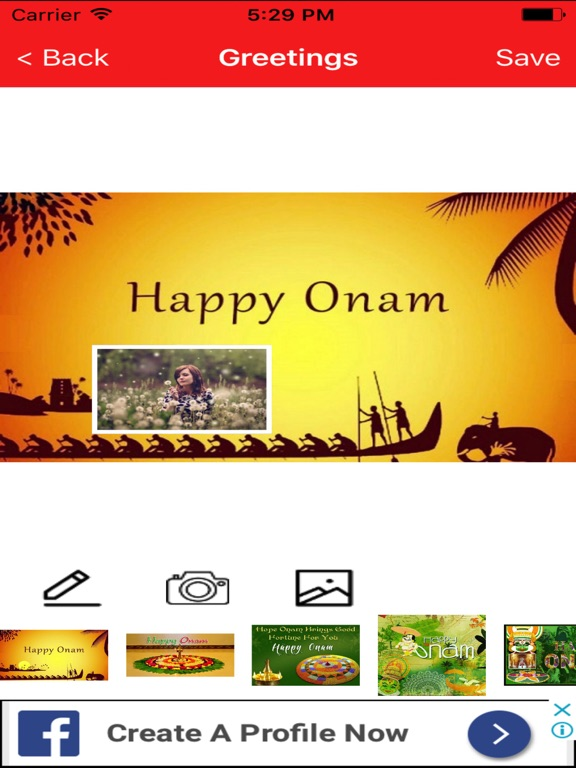 Onam greetings maker for onam messages images app price drops screenshot 2 for onam greetings maker for onam messages images m4hsunfo