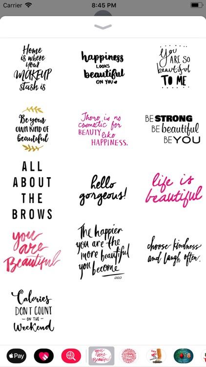 Beauty Love Quote Sticker Pack screenshot-3