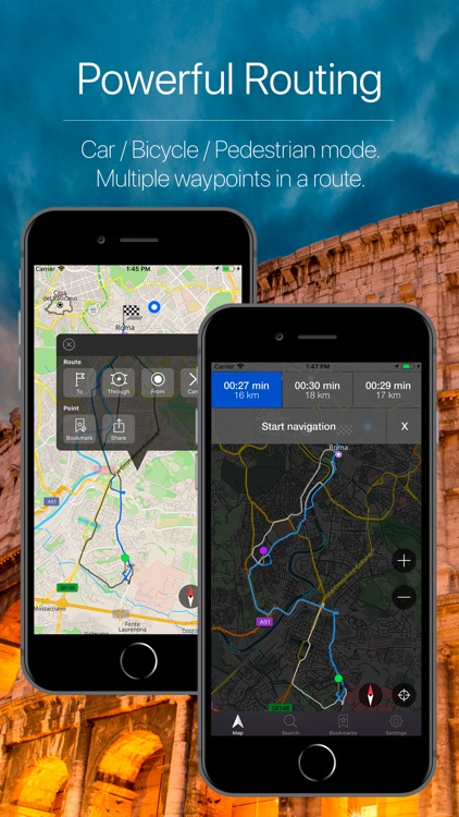 Italy Offline GPS Navigation