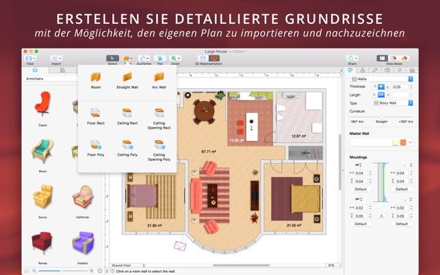 live home 3d im mac app store. Black Bedroom Furniture Sets. Home Design Ideas