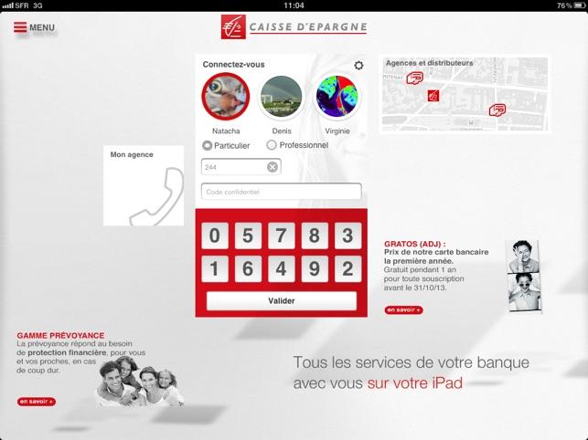 Banque Caisse D Epargne Dans L App Store