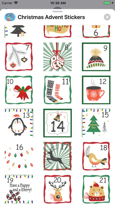 Screenshot for Christmas Advent Stickers in United States App Store