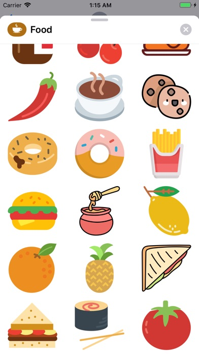 Food Stickers  ملصقات الأكل screenshot 2