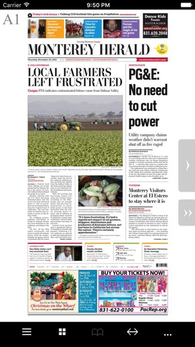 Monterey Herald eEdition screenshot one