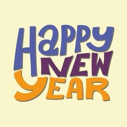 New Year Celebration Sticker
