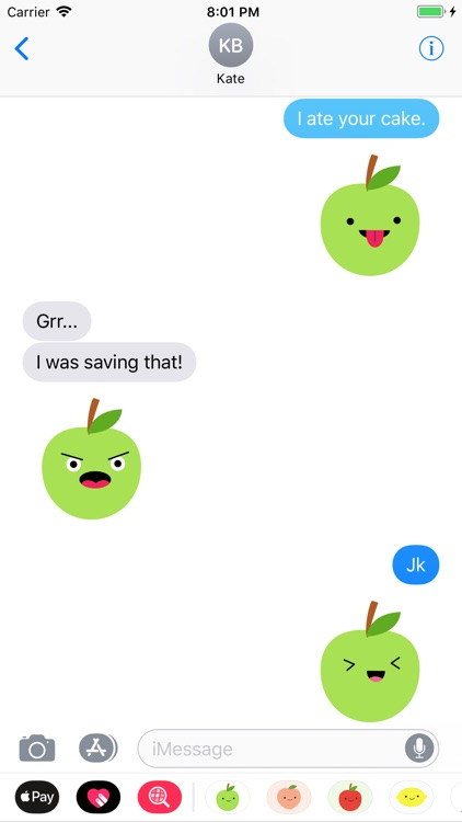 Cute Green Apple Stickers screenshot-2