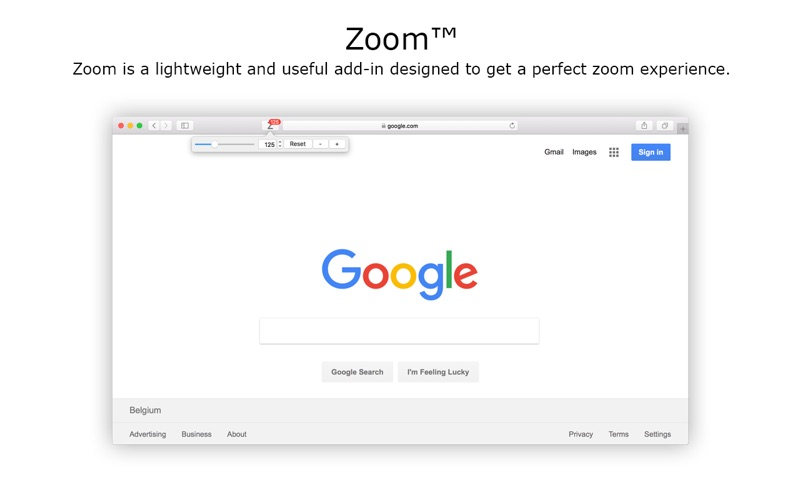 Zoom for Safari Screenshot