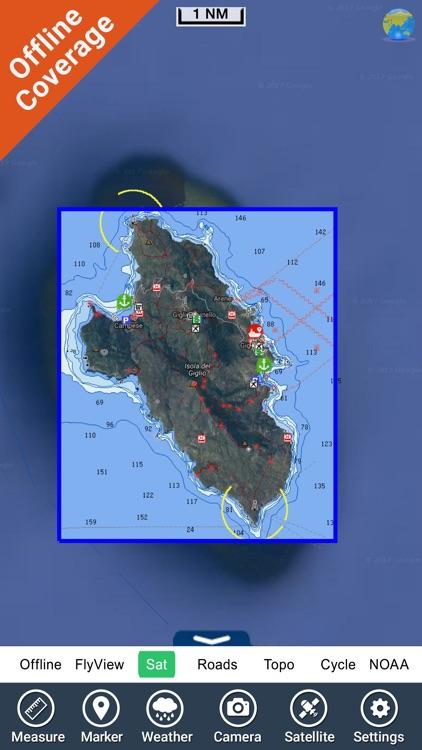 Marine: Isola del Giglio HD - GPS Map Navigator screenshot-4