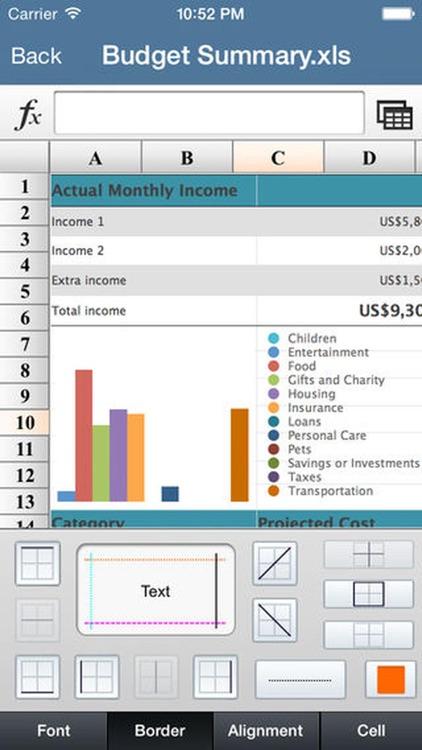 Office Sheet - for Spreadsheet