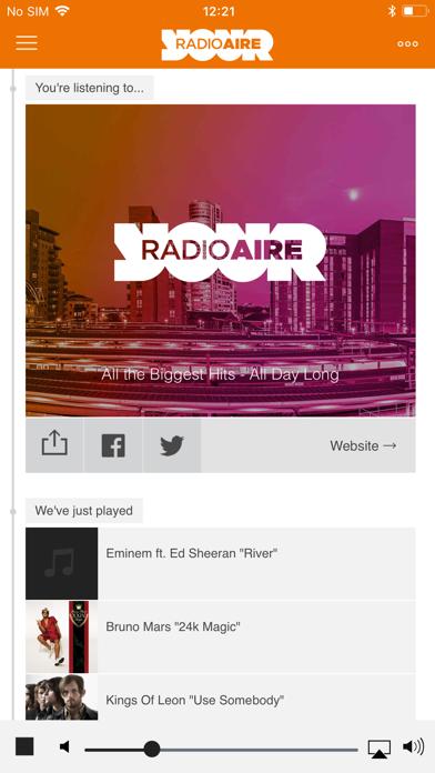 Radio Aire screenshot one