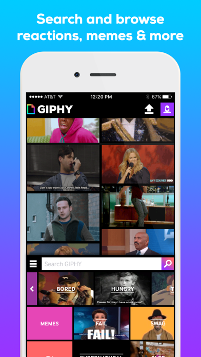 Screenshot 1 for GIPHY's iPhone app'