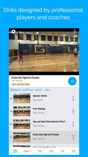Blueprint athletes basketball on the app store screenshots malvernweather Choice Image